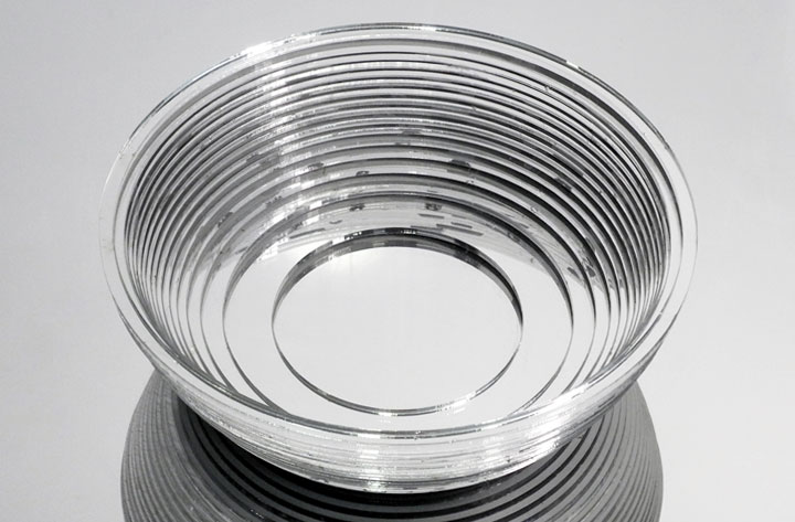 Laser-Cut Acrylic Leach Tableware Shallow Stacking Bowl
