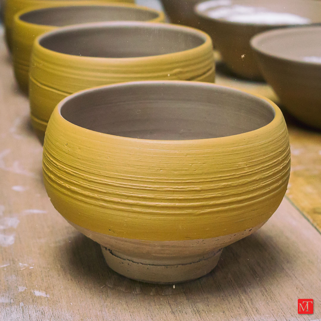 Matthew Tyas: new chawan awaiting firing
